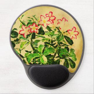 Desert Rose Flowers Impressionist Style Gel Mouse Pad
