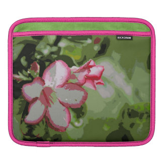 Desert Rose Flowers in the rain iPad Sleeves