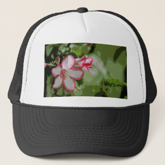 Desert Rose Flowers in the rain Trucker Hat