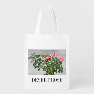Desert Rose Flowers Plant Reusable Grocery Bag