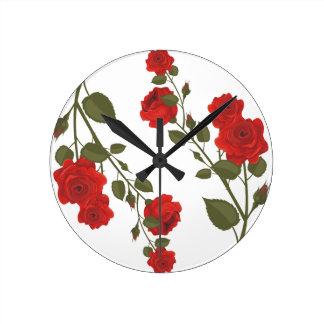 Desert Rose Round Wallclock