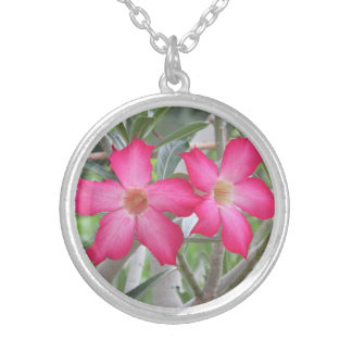 Desert Roses Silver Plated Necklace