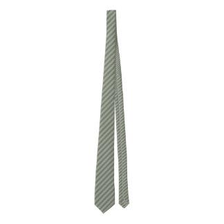 Desert Sage Striped Groomsmen Tie