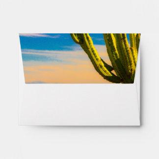 Desert Saguaro Cactus Casual Wedding Envelope