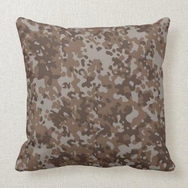 Desert Sand Camo Pattern Throw Pillow