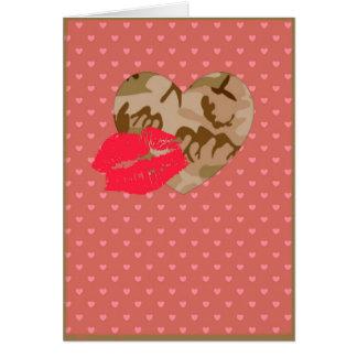 Desert Sand Camo Valentine Hearts Valentine's Day Card