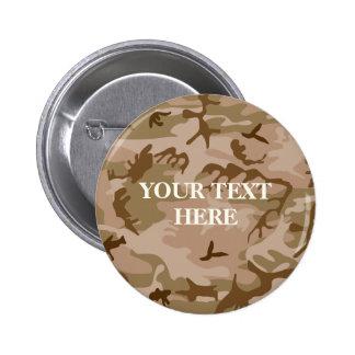 Desert Sand Camouflage Button