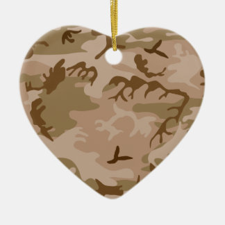 Desert Sand Camouflage Heart Ornament Christmas Ornaments