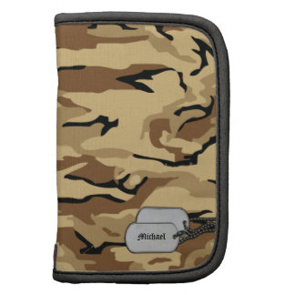Desert Sand Camouflage with Dog Tags Planners