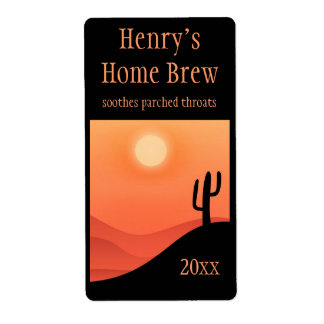 Desert Scene Home Brew Label