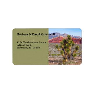 Desert Scene Landscape Return Address Label