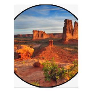 Desert Scene Personalized Letterhead