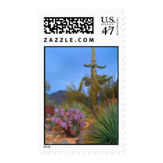 Desert Scene Postage Stamp