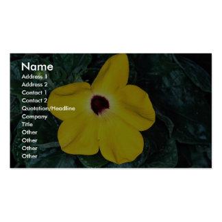 Desert sesame yellow flower, Madagascar Double-Sided Standard Business Cards (Pack Of 100)