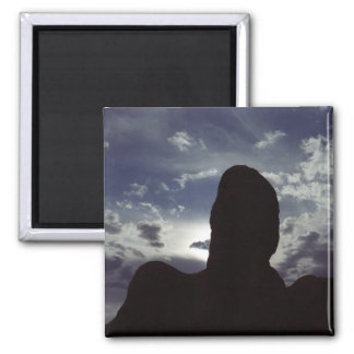 Desert Silhouette: Arches National Park 2 Inch Square Magnet