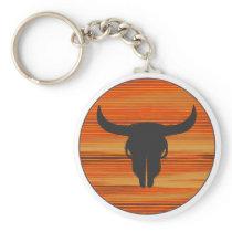 Desert Skull Sunset Keychain