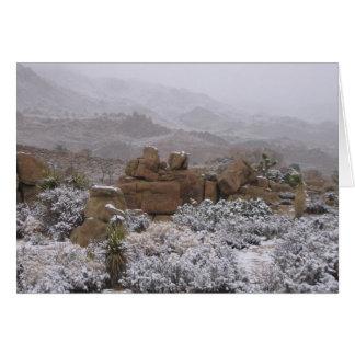 Desert Snow Stationery Note Card