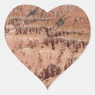 Desert Spikes Scene Heart Sticker