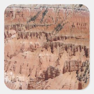 Desert Spikes Scene Square Sticker