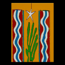 Desert Star Abstract posters