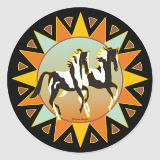 Desert Star Paint Horse Sticker