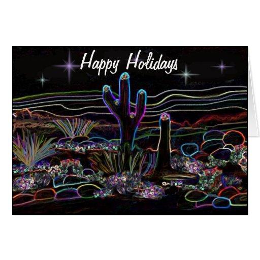 Desert Stary Night Holiday Card