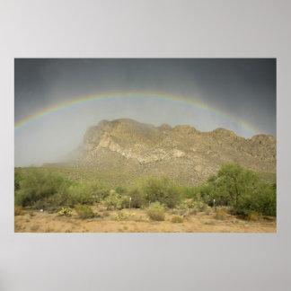 Desert Storm and rainbow Poster