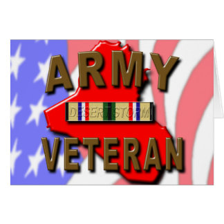 Desert Storm ARMY Veteran Card