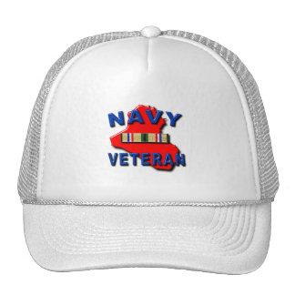 Desert Storm Campaign Ribbon, NAVY Mesh Hat