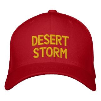 DESERT STORM EMBROIDERED BASEBALL HAT