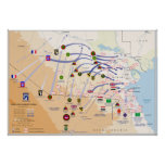 Desert Storm Ground Operations Map 1991 Poster