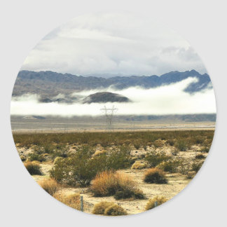 Desert Storm & Low Clouds Classic Round Sticker
