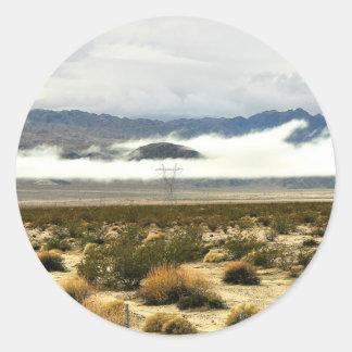 Desert Storm & Low Clouds Classic Round Sticker