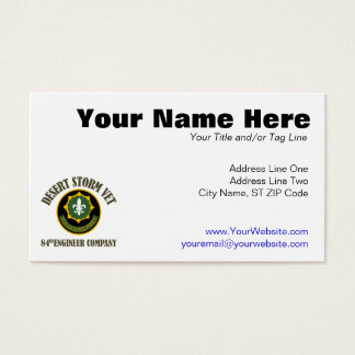 Desert Storm Vet - 84th Eng Co Business Card