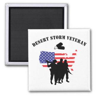 Desert Storm Veteran 2 Inch Square Magnet