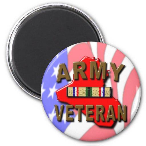 Desert Storm Veteran Service Ribbon, ARMY Fridge Magnet