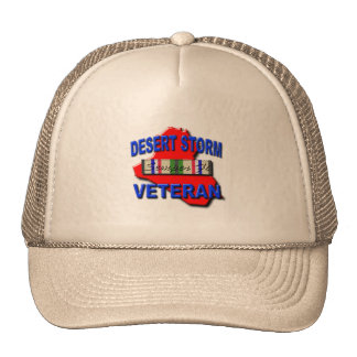 Desert Storm Veteran Service Ribbon, Semper Fi Trucker Hat