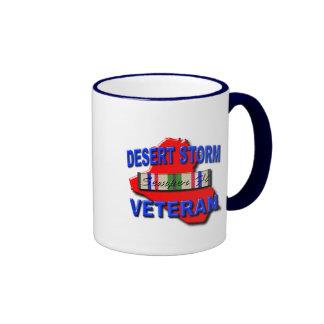 Desert Storm Veteran Service Ribbon, Semper Fi Mug
