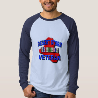 Desert Storm Veteran Service Ribbon, Semper Fi T-Shirt