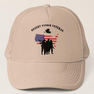 Desert Storm Veteran Trucker Hat