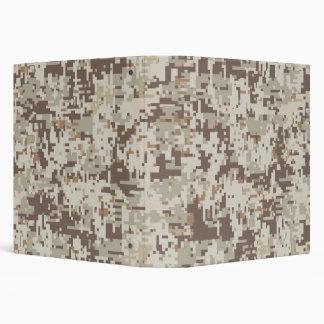 Desert Style Digital Camouflage Beige Decor Binder