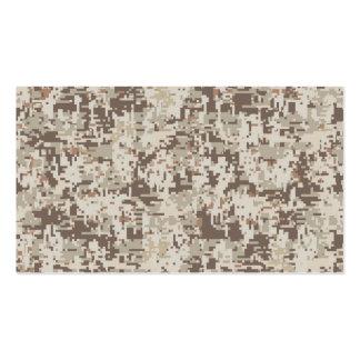 Desert Style Digital Camouflage Beige Decor Business Card