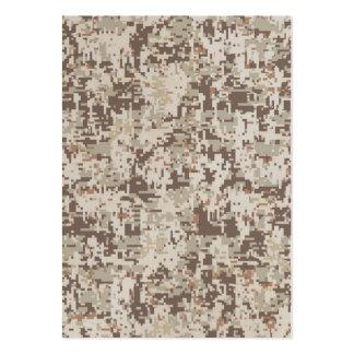 Desert Style Digital Camouflage Beige Decor Large Business Card