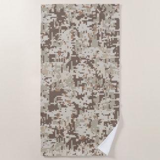 Desert Style Digital Camouflage Decor on a Beach Towel