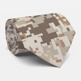 Desert Style Digital pixel beige Camouflage Tie