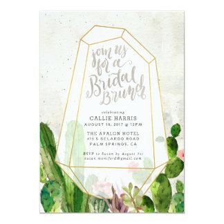 Desert Succulent Bridal Brunch Invitation - Stone