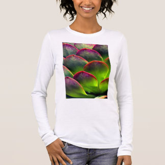Desert Succulent in Bright Sun and Shade Long Sleeve T-Shirt