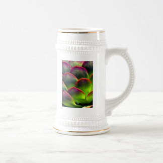 Desert Succulent in Bright Sun and Shade 18 Oz Beer Stein