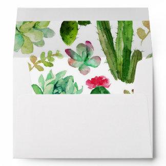Desert Succulent Matching Envelope