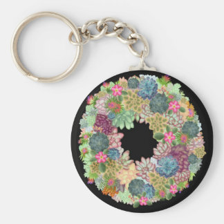 Desert Succulent Wreath Keychain